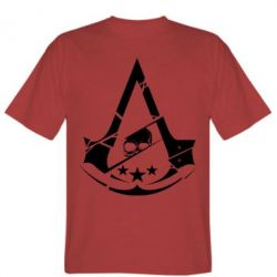 Мужская футболка Assassin's Creed and skull 1