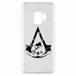 Чехол для Samsung S9 Assassin's Creed and skull 1