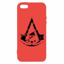 Чехол для iPhone5/5S/SE Assassin's Creed and skull 1