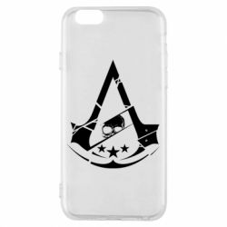 Чехол для iPhone 6/6S Assassin's Creed and skull 1
