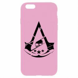 Чехол для iPhone 6 Plus/6S Plus Assassin's Creed and skull 1