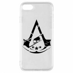 Чехол для iPhone 7 Assassin's Creed and skull 1