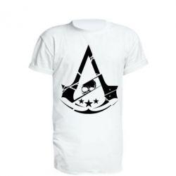 Удлиненная футболка Assassin's Creed and skull 1