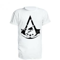 Подовжена футболка Assassin's Creed and skull 1