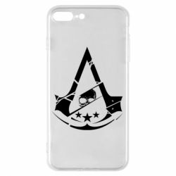 Чехол для iPhone 7 Plus Assassin's Creed and skull 1