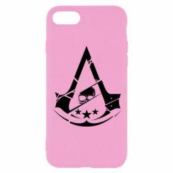 Чохол для iPhone 8 Assassin's Creed and skull 1