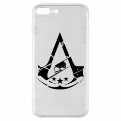 Чехол для iPhone 8 Plus Assassin's Creed and skull 1