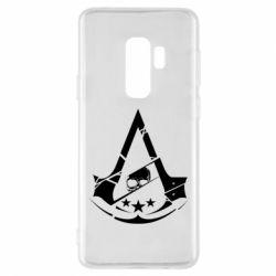 Чехол для Samsung S9+ Assassin's Creed and skull 1