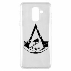 Чохол для Samsung A6+ 2018 Assassin's Creed and skull 1