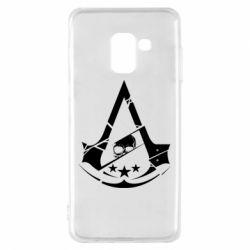 Чехол для Samsung A8 2018 Assassin's Creed and skull 1