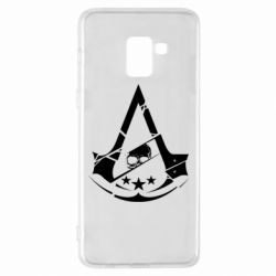 Чехол для Samsung A8+ 2018 Assassin's Creed and skull 1