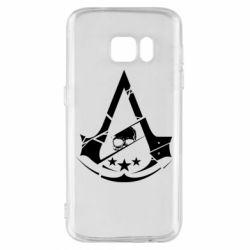 Чехол для Samsung S7 Assassin's Creed and skull 1