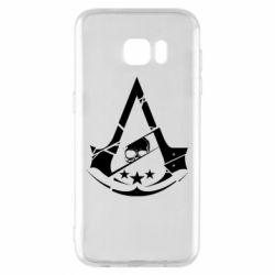 Чехол для Samsung S7 EDGE Assassin's Creed and skull 1