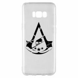 Чехол для Samsung S8+ Assassin's Creed and skull 1