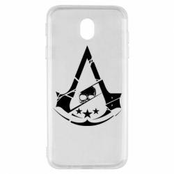 Чехол для Samsung J7 2017 Assassin's Creed and skull 1