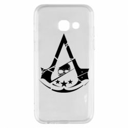 Чехол для Samsung A3 2017 Assassin's Creed and skull 1