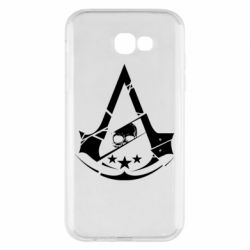 Чехол для Samsung A7 2017 Assassin's Creed and skull 1