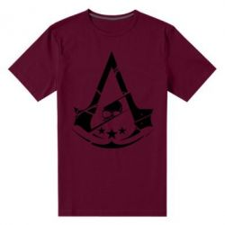 Чоловіча стрейчева футболка Assassin's Creed and skull 1