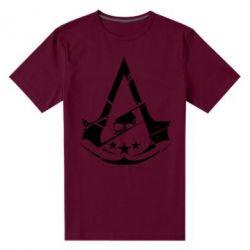 Мужская стрейчевая футболка Assassin's Creed and skull 1