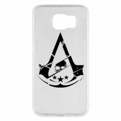 Чехол для Samsung S6 Assassin's Creed and skull 1