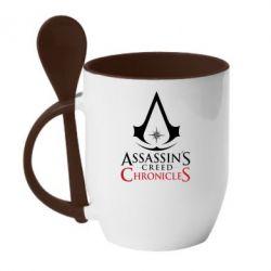 Кружка з керамічною ложкою Assassin's creed ChronicleS