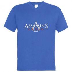 Чоловіча футболка з V-подібним вирізом Assassin's Creed logo