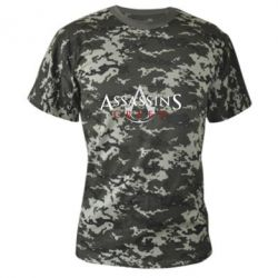 Камуфляжна футболка Assassin's Creed logo