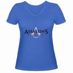 Жіноча футболка з V-подібним вирізом Assassin's Creed logo