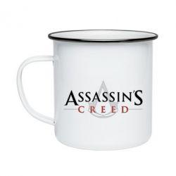 Кружка емальована Assassin's Creed logo
