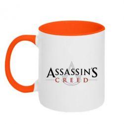 Кружка двоколірна 320ml Assassin's Creed logo