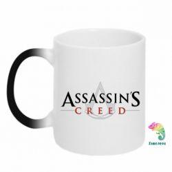 Кружка-хамелеон Assassin's Creed logo