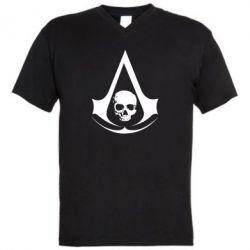 Мужская футболка  с V-образным вырезом Assassin's Creed Misfit - FatLine