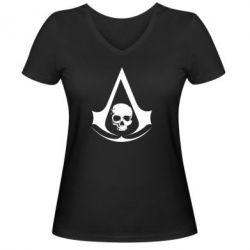 Женская футболка с V-образным вырезом Assassin's Creed Misfit - FatLine