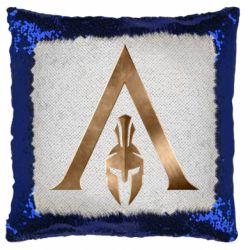 Подушка-хамелеон Assassin's Creed: Odyssey logo