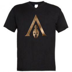 Чоловіча футболка з V-подібним вирізом Assassin's Creed: Odyssey logo