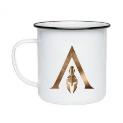 Кружка емальована Assassin's Creed: Odyssey logo