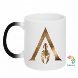 Кружка-хамелеон Assassin's Creed: Odyssey logo