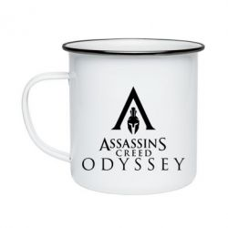Кружка емальована Assassin's Creed: Odyssey logotype