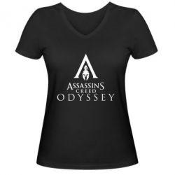 Жіноча футболка з V-подібним вирізом Assassin's Creed: Odyssey logotype - FatLine
