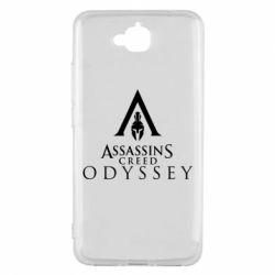 Чохол для Huawei Y6 Pro 2018 Assassin's Creed: Odyssey logotype - FatLine