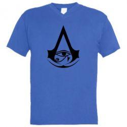 Чоловіча футболка з V-подібним вирізом Assassin's Creed Origins logo
