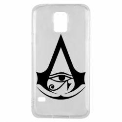 Чохол для Samsung S5 Assassin's Creed Origins logo