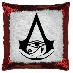 Подушка-хамелеон Assassin's Creed Origins logo