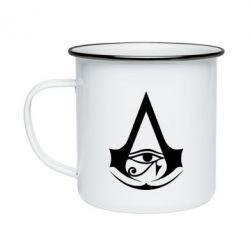 Кружка емальована Assassin's Creed Origins logo