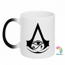 Кружка-хамелеон Assassin's Creed Origins logo
