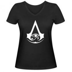 Жіноча футболка з V-подібним вирізом Assassin's Creed Origins logo