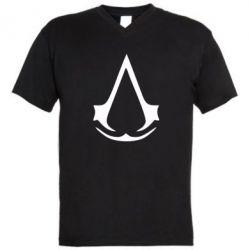 Мужская футболка  с V-образным вырезом Assassin's Creed - FatLine