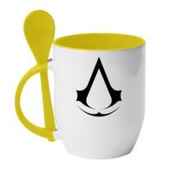 Кружка з керамічною ложкою Assassin's Creed