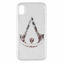 Чехол для iPhone X/Xs Assassins Creed and skull