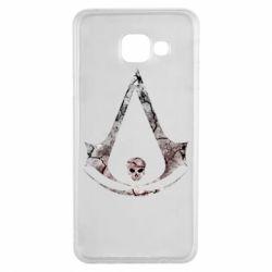 Чехол для Samsung A3 2016 Assassins Creed and skull